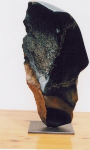 Stand up,  springstone,  2001, 60 x 25 x 24cm