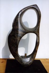 Soft Stone A, serpentijn, 2002/6, 65 x 31 x 22cm,  particulier bezit